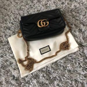 Gucci matelassé leather super mini bag